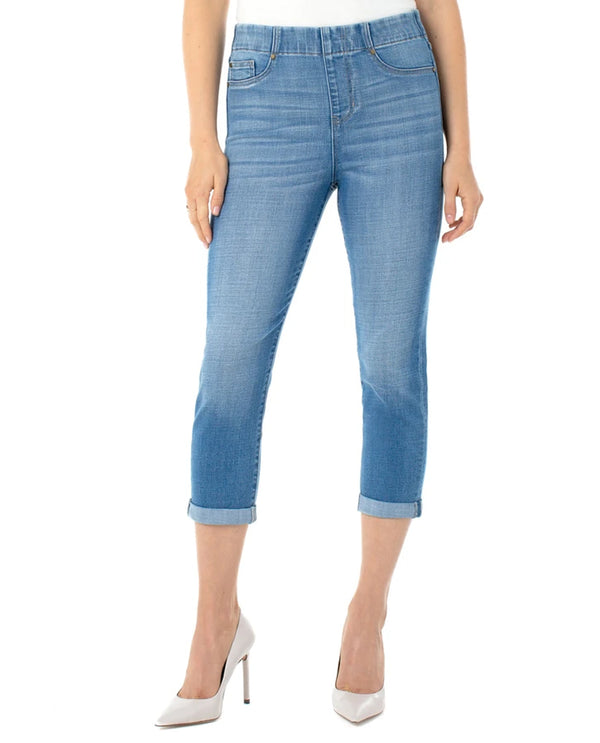 Liverpool Jeans LM7065CH1 Chloe Rolled Crop BMN