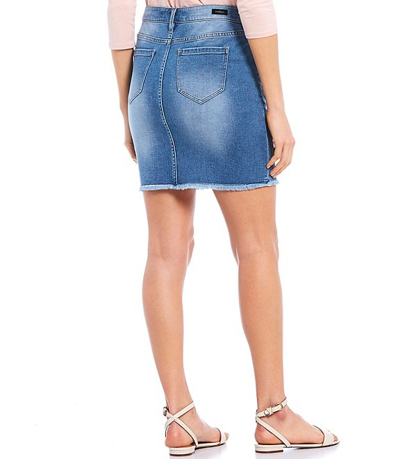 Liverpool Jeans LM1610SS* Patch Pckt Denim Skirt - Nashville wash