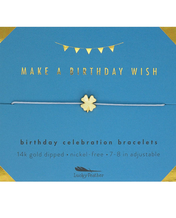 Lucky Feather HBD.GWISH Bday Wish Bracelet Gold