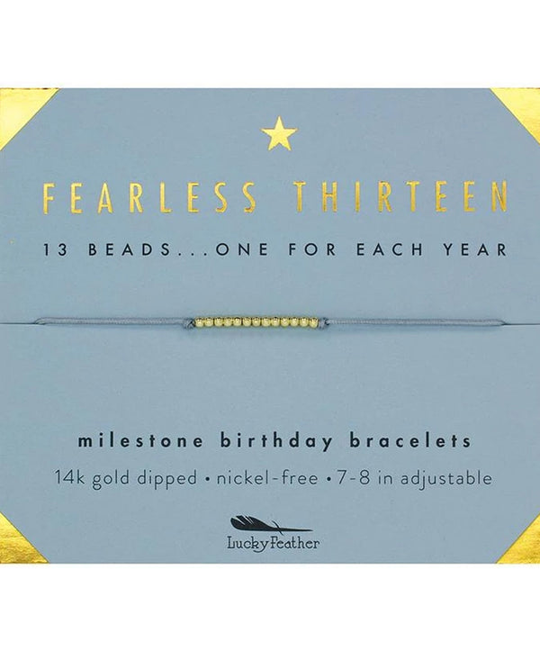 Lucky Feather HBD.M13 13Th Bday Bracelet Gold