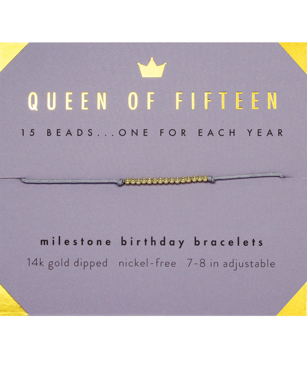 Lucky Feather HBD.M15 15Th Bday Bracelet GOLD