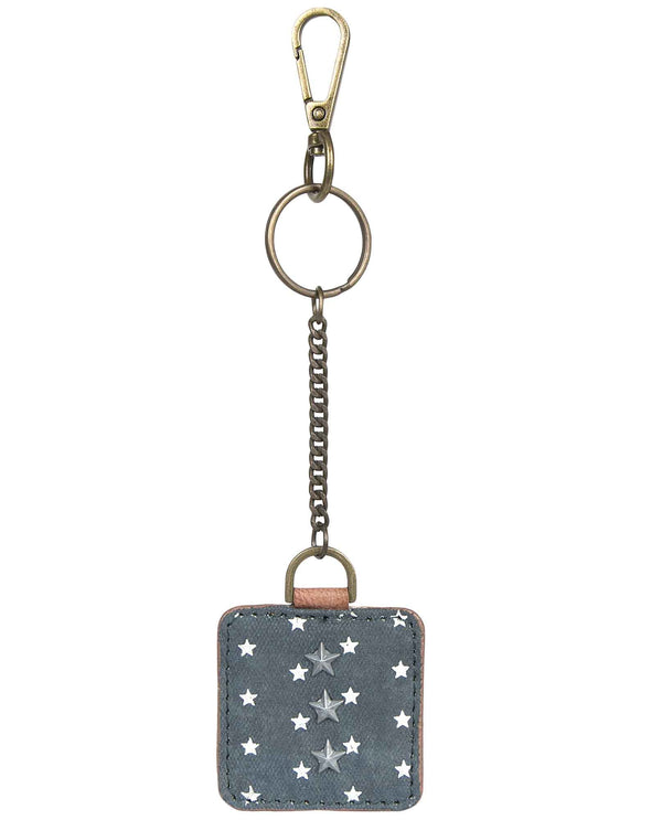 Mona B M-5206 United Key Fob patriotic key fob with stars and stripes