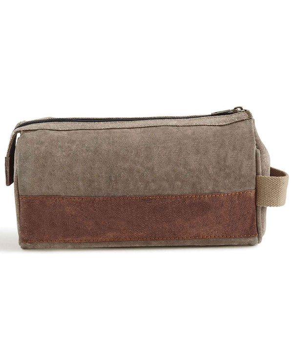 Mona B MC-240 Mens Noah Dopp Kit upcycled bag with nylon lining