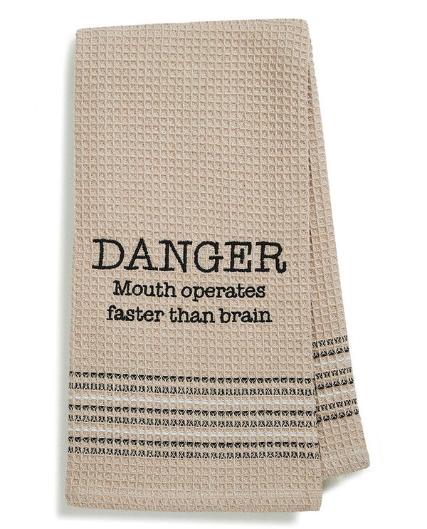 Mona B MH-167 Danger Dish Towel cotton dish towel with a funny saying