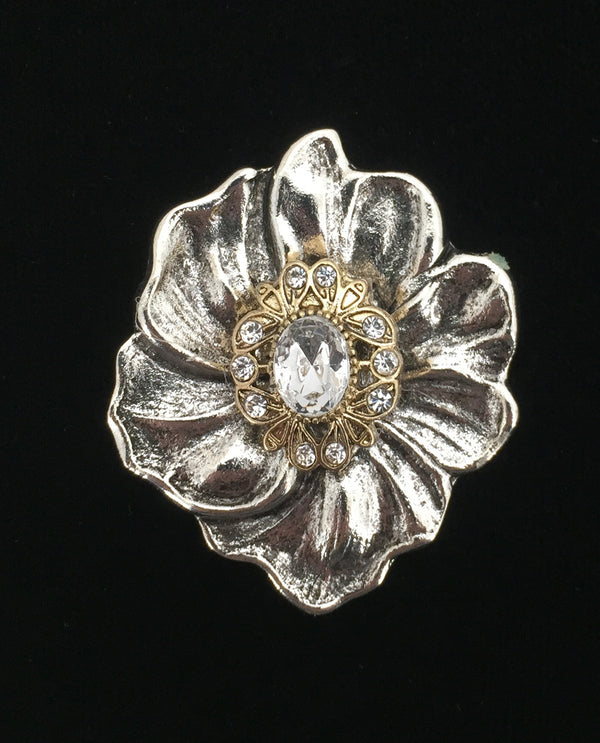 CLER Petal Flower Birth Stone Brooch