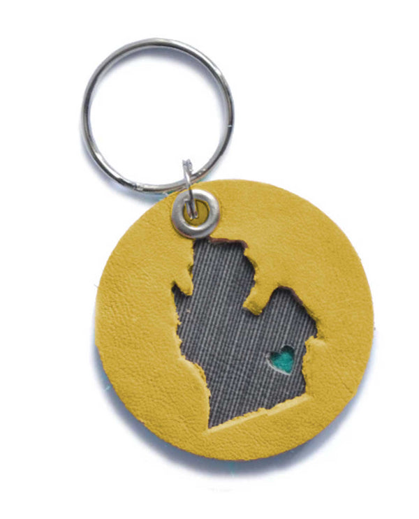 Mend On The Move On The Move Key Chain handmade leather key chain made in Detroit