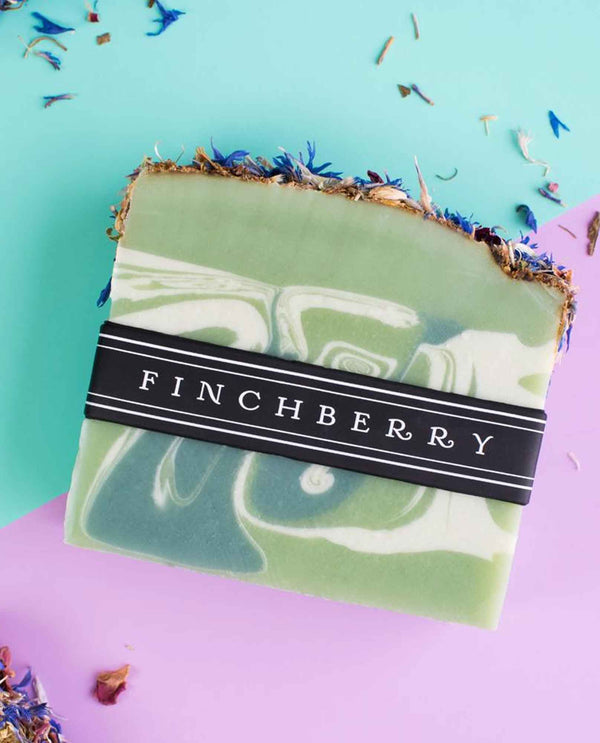 FinchBerry Mint Condition Soap handmade vegan soap with sprinkled confetti and fresh minty scent
