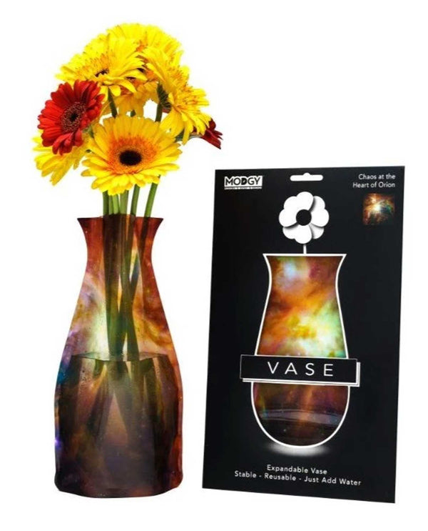 Modgy 66171 Heart Of Orion Expandable Vase BPA free plastic vase for flowers with space print