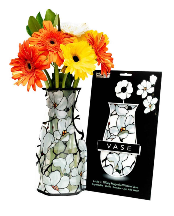 Modgy 66181 Magnolia Window Expandable Vase durable BPA free vase that collapses for storage