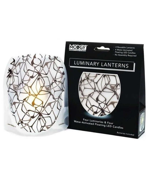 Modgy Ice LUM3014 Ice Baby Luminary BPA free plastic floating candles with LED candle