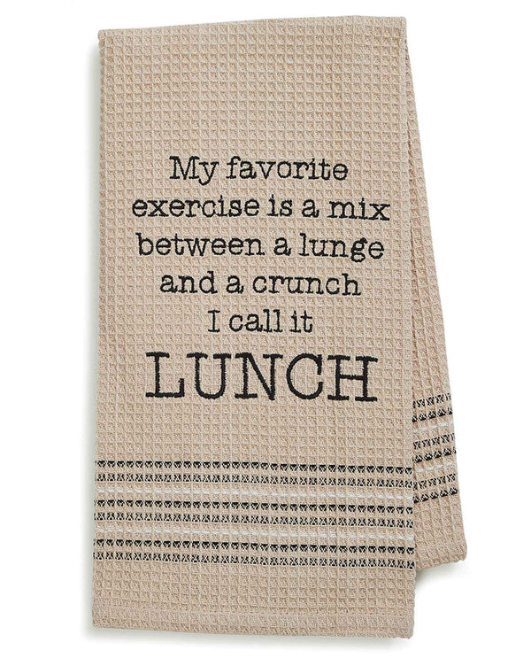 Mona B MH-170 Lunch Dishtowel cotton dish towel with hilarious saying about lunch