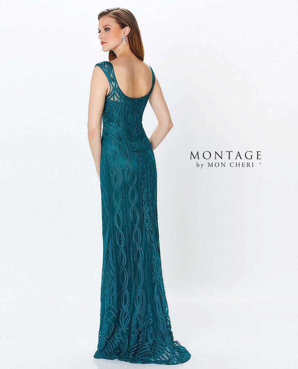 Montage 119953 Beaded Bodice Sweetheart Gown Emerald