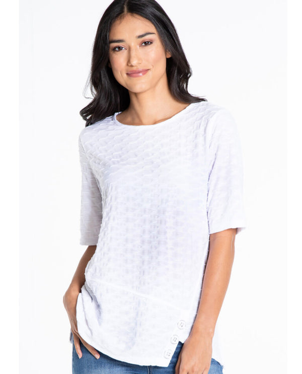 Multiples M21611TW Textured Knit Top