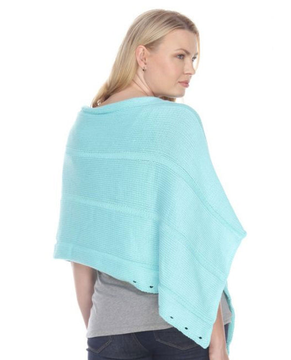 Neon Buddha Pure Knits 10062 Feels Right Wrap Lagoon N567