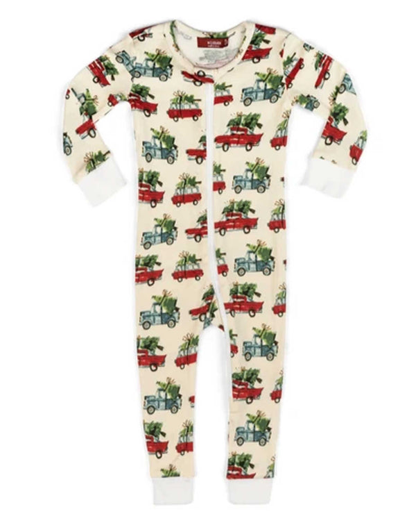 38107 Zipper Christmas Cars Baby PJs
