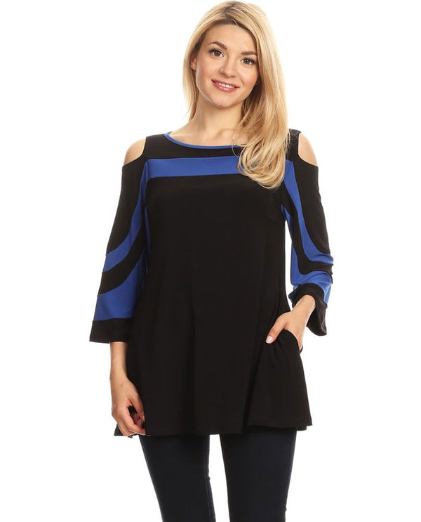 Opera HME-4521 Womens Cold Shoulder Top