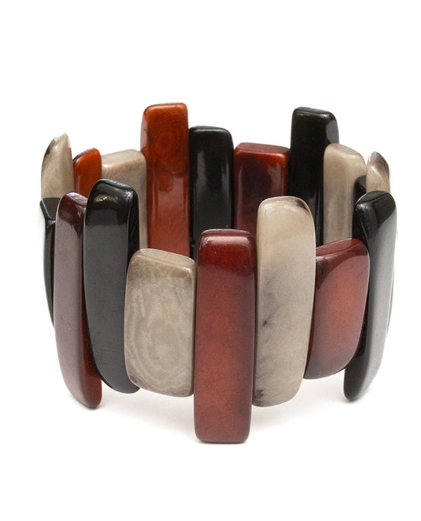 Organic Tagua 1B707-CH COMBO Michelle Bracelet Brown Combo