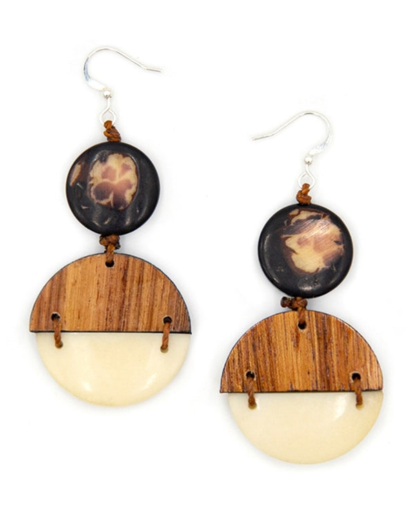 Organic Tagua 1E058 Paulina Earrings