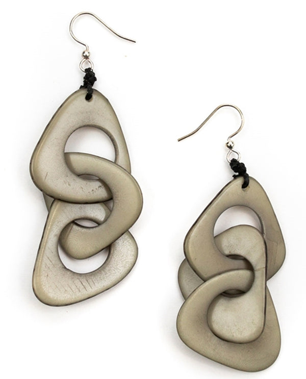 Organic Tagua 1E140 Vero Earrings Charcoal;