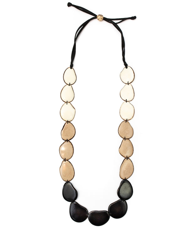 Organic Tagua LC230-ONC Angelina Necklace Black Combo
