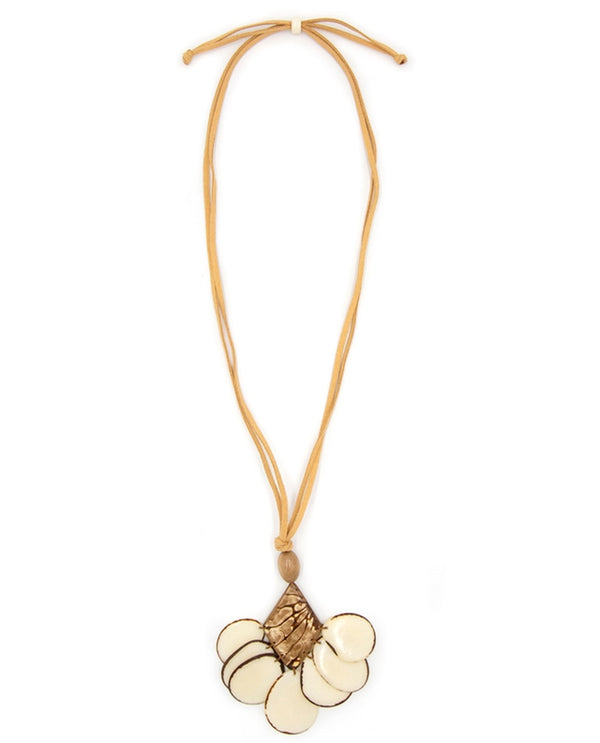 Organic Tagua LC527 Mystique Pendant Necklace Ivory