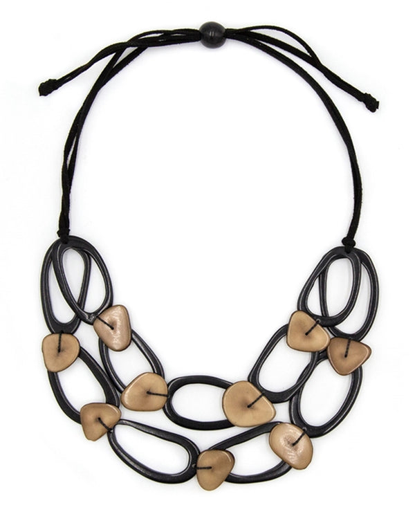 Organic Tagua SC049-ON-CF Crystal Necklace