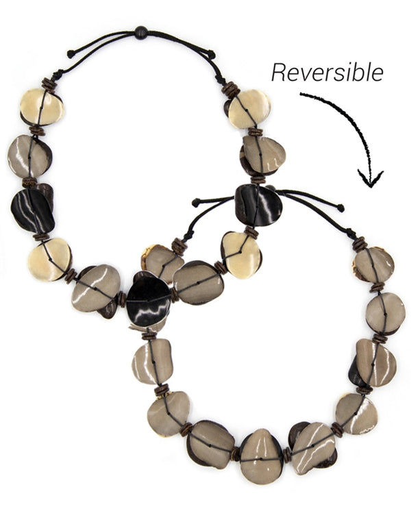 Organic Tagua SC011 Narcisa Necklace Black