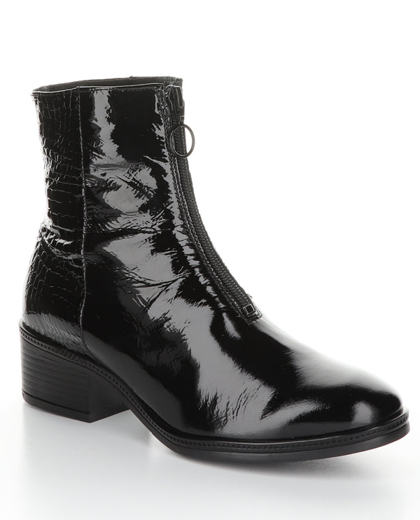 Patent Croc Boot Black