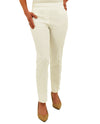 Renuar R1542 Paris Cigarette Ankle Pants - Fashion Colors Ivory