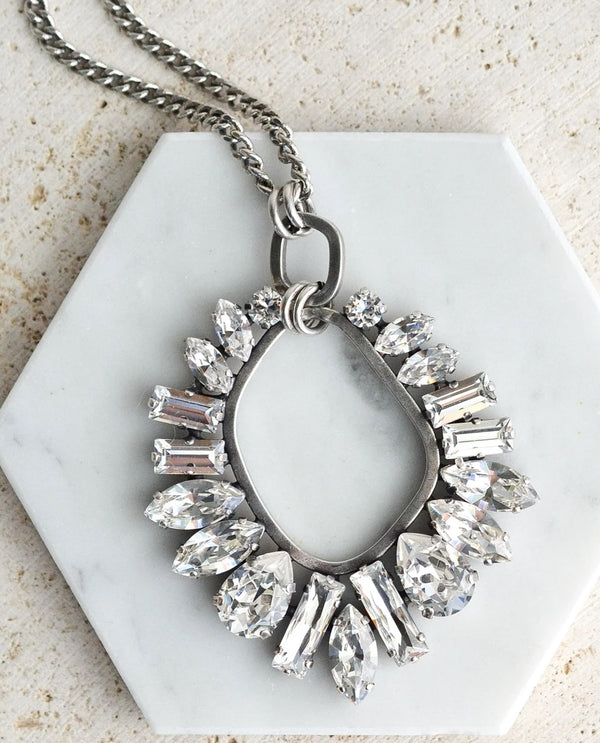 RACHEL MARIE DESIGNS Petra Cluster Necklace Clear