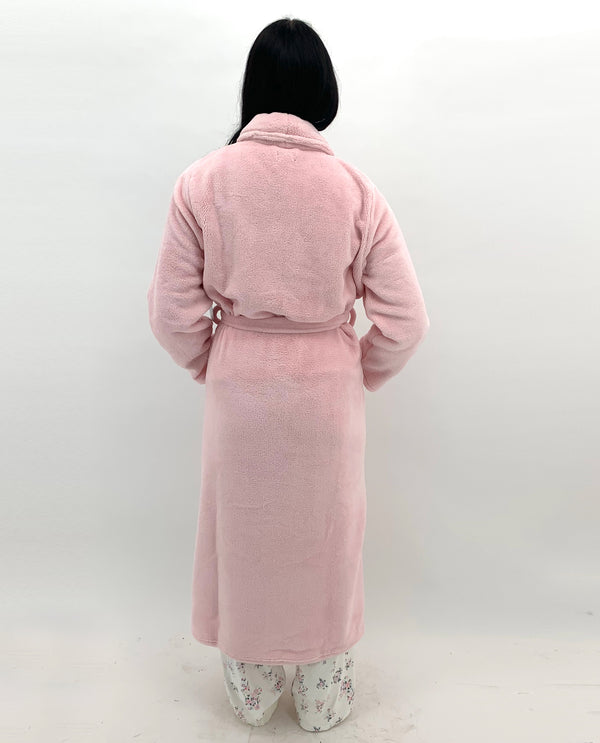 Plush Long Robe Rose