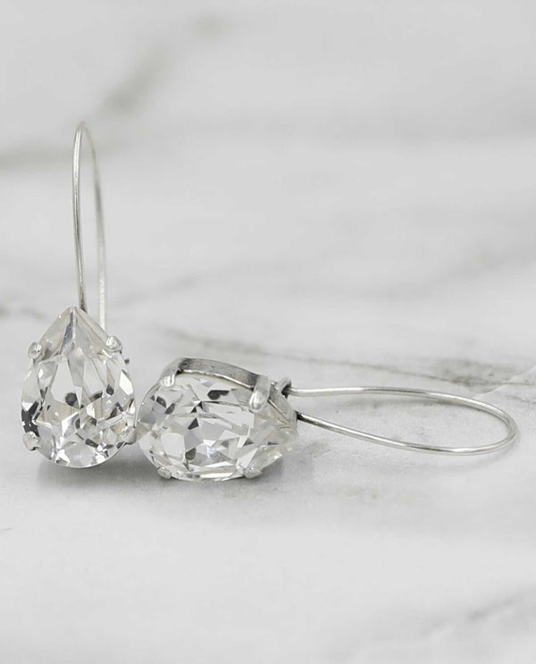 Clear Promise Earring by Rachel Marie Designs petite Swarovski crystal earrings USA made