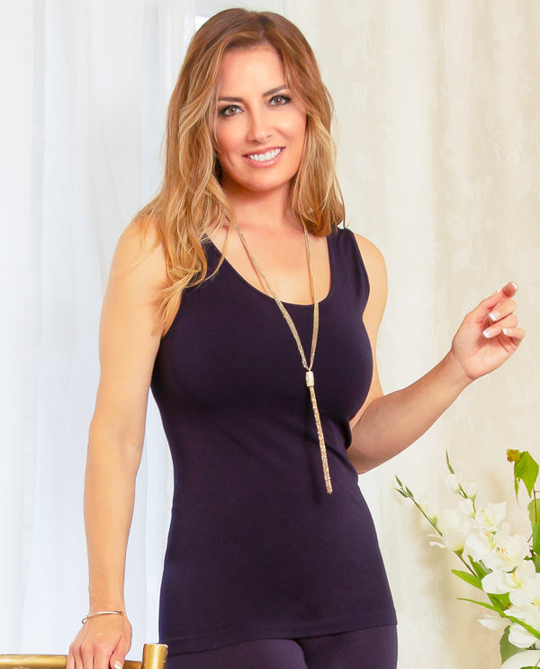 Pure Essence 101-4275 Seamless Tank navy