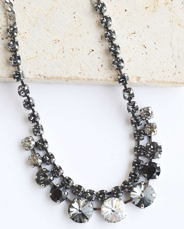 Quinn Necklace Silver Ombre by Rachel Marie Designs
