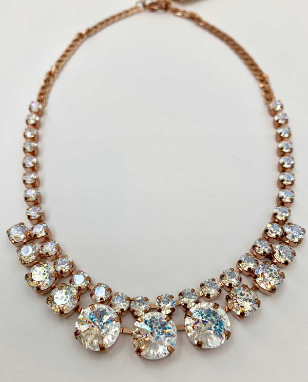 Quinn Bib Necklace BY RACHEL MARIE DESIGNS white patina