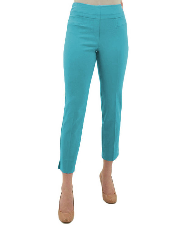 Renuar R1542 Ankle Pants - Fashion Colors Azure