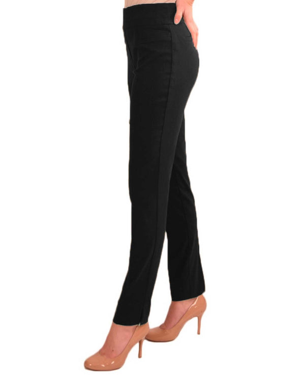 Renuar R1721 Paris Cigarette Skinny Pull On Pants Black