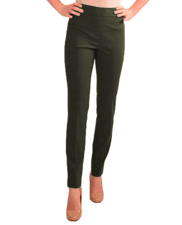 Renuar R1721 Paris Cigarette Skinny Pull On Pants Fashion Colors Falcon