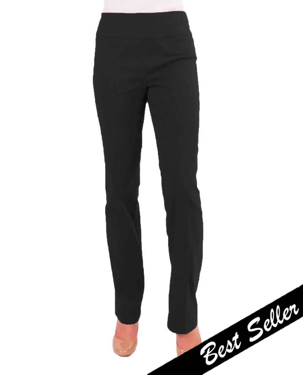 Renuar R1417 Straight Leg Slimming Pants Black Best Seller