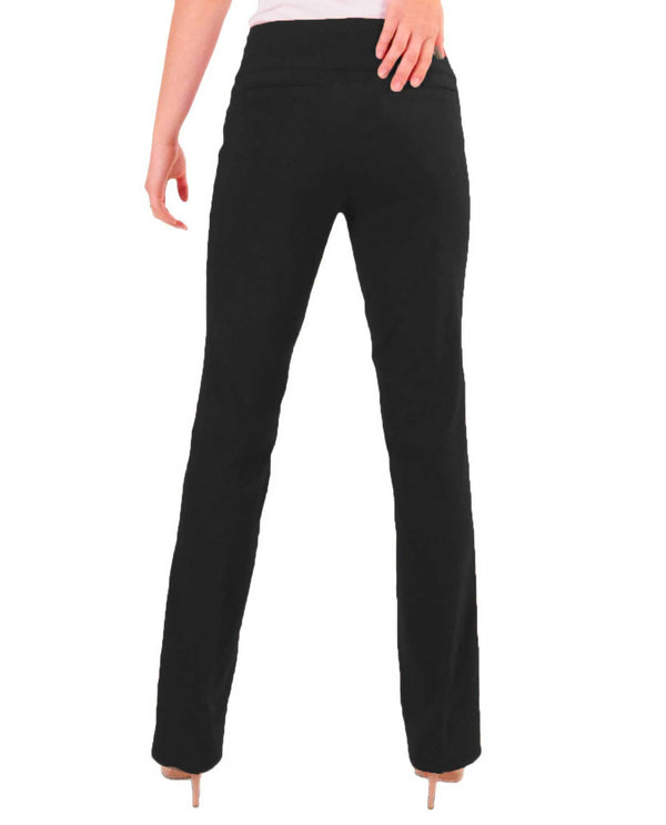 Renuar R1417 Straight Leg Slimming Pants Black