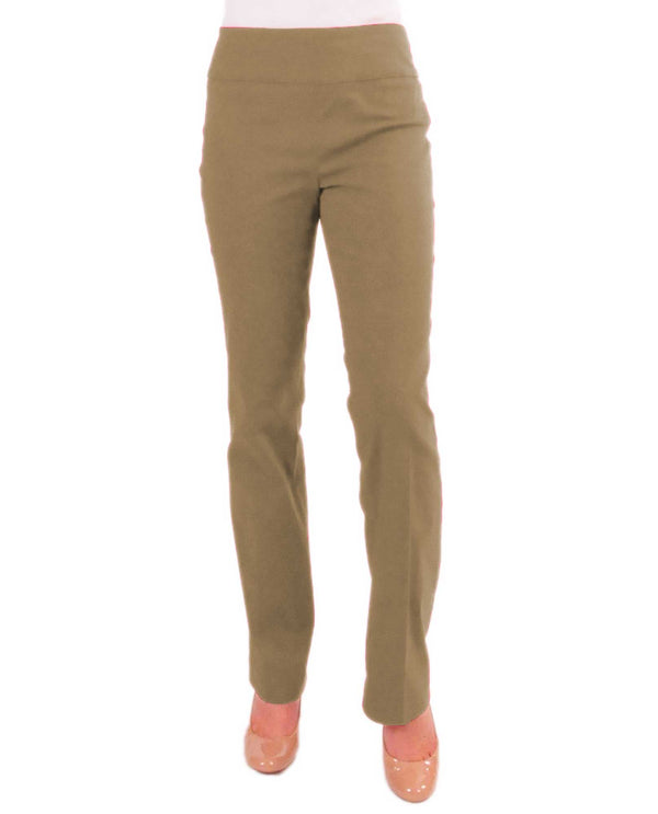 Renuar R1417 Straight Leg Slimming Pants Fawn