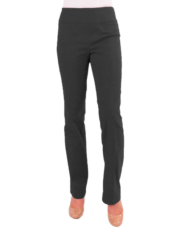Renuar R1417 Straight Leg Slimming Pants Heather Carbon