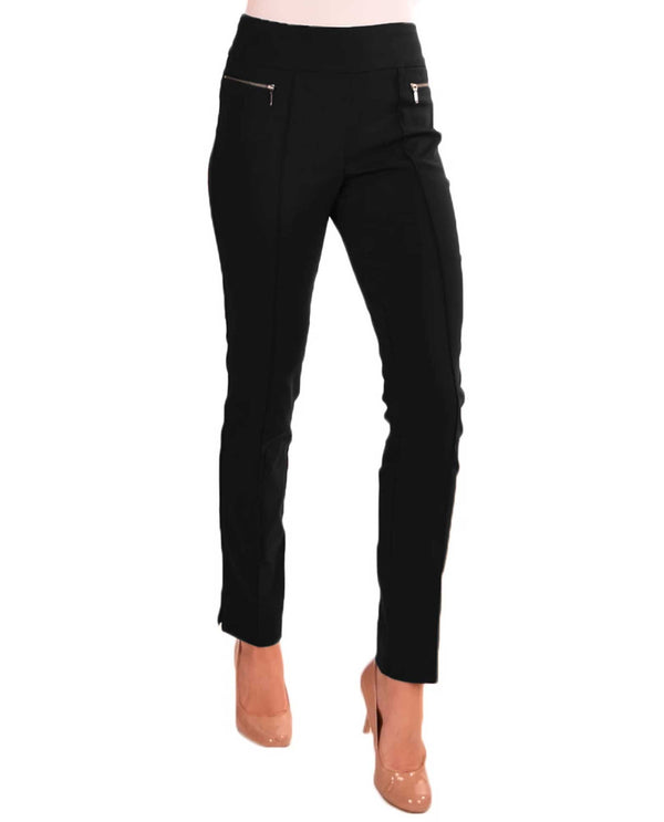 Renuar R1472 Pull On Skinny Cigarette Pants Black