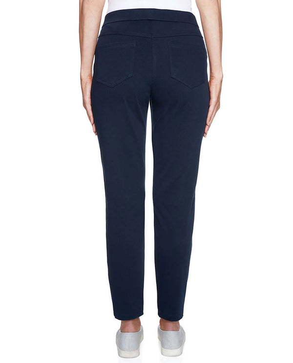 Ruby Rd 24300 Pull On Ankle Pant Petite Navy