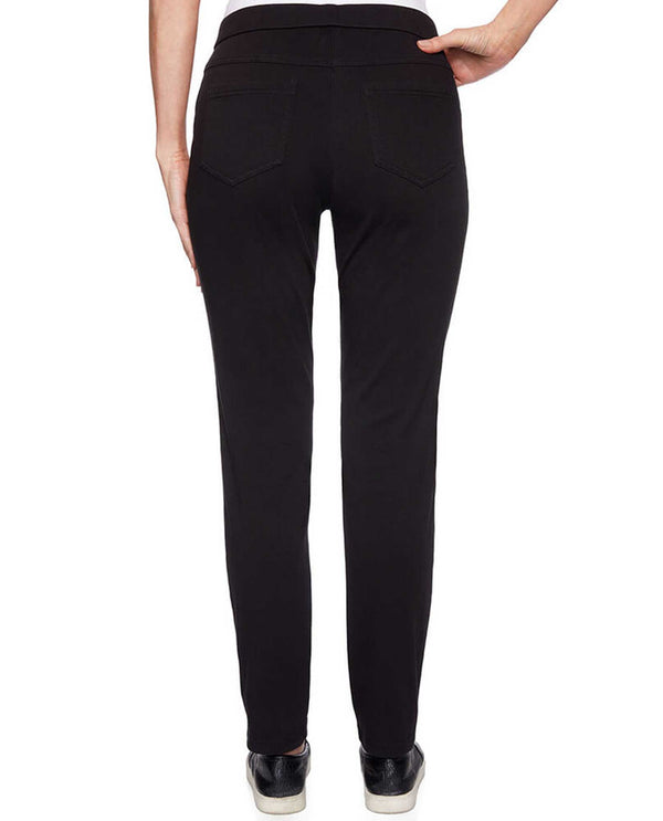 Ruby Rd 62302 Black Pull On Twill Pants