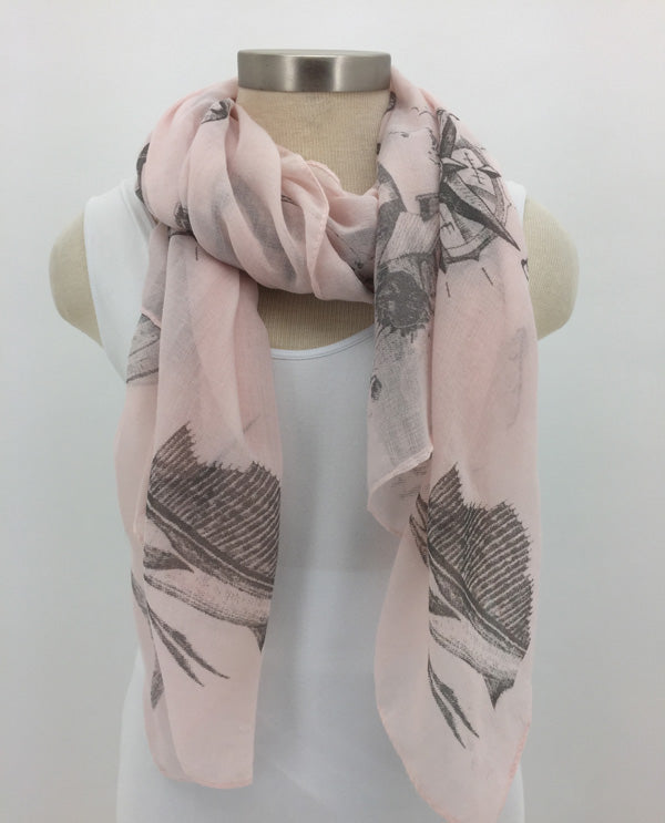 Pink Lighthouse Scarf