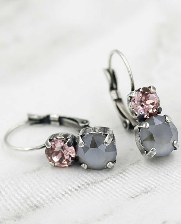 Sarah Earring Pink Panther by Rachel Marie Designs with Swarovki crystals