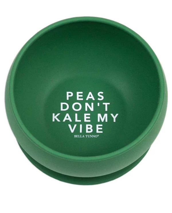 Bella Tunno SB04 Peas Don't Kale My Vibe Suction Bowl green silicone toddler bowl