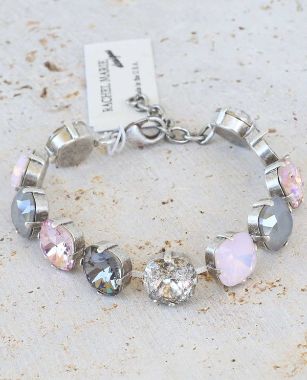 Pink Panther Bracelet by Rachel Marie Designs made of Swarovski crystals