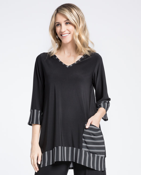 Sympli 23146CB Match Tunic Varied Stripe